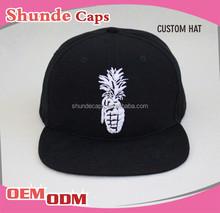 Wholesale Simple Run Dmc 100% Acrylic Snapback Cap Cheap Custom Snapback Cap