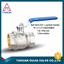 brass ball valve with clock pressure and nickel-plated PPR with forged and full port and CE approved three way
