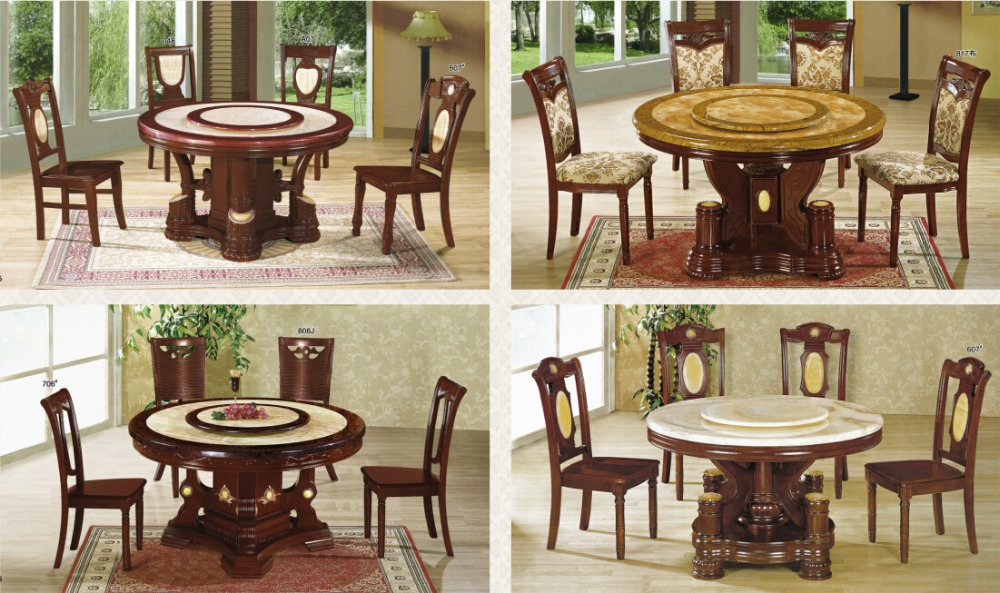 Round Rotating Dining Table