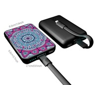 Unique holder power bank for phone watch TV sucker power bank wireless charger pack