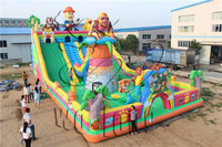 commercial inflatable dry slide / inflatable bouncer with slide