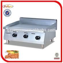 Equipo de cocina placa plana parrilla de Gas plancha
