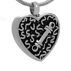 New Funeral Jewelry 316L Stainless Steel Dog Bone Always In My Heart Open Cremation Keepsake Urn Ashes Pendant For Gone Pet