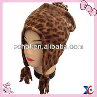 Great fleece leopard grain children earflap wholesale winter hat