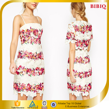 Mini Lace Printing Two Pieces Fashion Wholesale In Good Quality