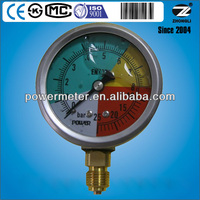 high quality vibration-proof oil filled pressure gauge manometer made by export for 10 years manufacturer