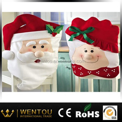 Mr & Mrs Santa Claus Christmas Kitchen dining Chair Covers