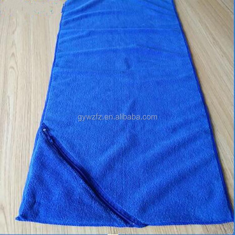 Microfiber Gym Towel With Zip: Wholesale Custom Logo Gym Microfiber Towel With Zipper