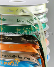 Manufacturer 100% Polyester Ribbon Printed Ribbon Satin Ribbon