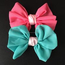 sweet plain chiffon bows,satin ribbon hair bows
