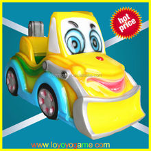 outdoor game machie Smile face cartoon children battery operated rides car