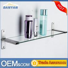 2015 wholesale decorative wall glass shelf for bathroom