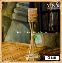 Home Decoration Use and Yes Handmade Bamboo pillar candle holder