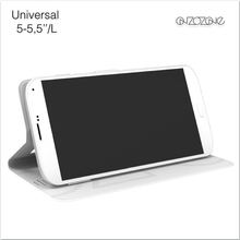 """Universal flip case for 5.5""""-6.0"""" phones, mobile phone leather case, stylish mobile phone back cover"""