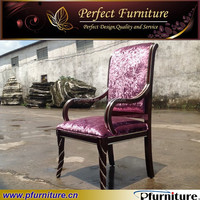 luxurious fabric antique armchair for hotel room PFC15108