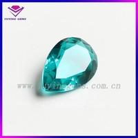 beautiful pear shape Aquamarine CZ stone