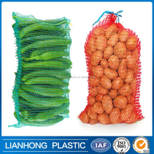 Made in China factory price raschel knitted pe mesh bag for onion,raschel mesh bag for potato