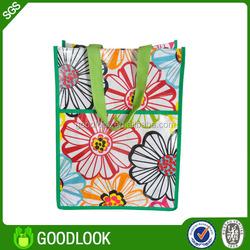 pp woven fabric colorful printing non woven reusable shopping bag GL382