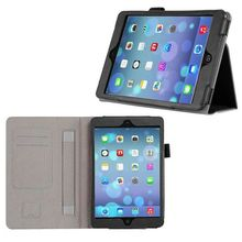 Genuine Leather Foldable Smooth Texture Case for iPad Mini 3 Smart Cover