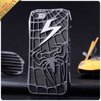 2013 hot sale lightning Hollow out Spiderman for iphone 5 metal case luxury case for iphone5