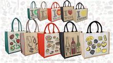 2013 hot sale fashion cotton rope handle eyelet lamination inside best trendy jute tote bag
