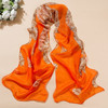 Fashion pink scarf cheap bow chiffon scarves for girl