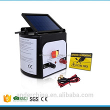 Portable Design Farm Solar Power Electric Fence Charger Energiser Energizer with Solar Panel