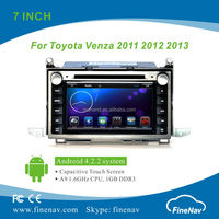 """Finenav 7"""" Android Car Stereo With LCD Screen for TOYOTA VENZA with Gps Navi,3G,Wifi,Bluetooth,Ipod Support Rear View Camera,DVR"""