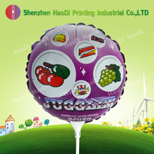 custom 10 inch inflatable floating advertising mini mylar stick foil balloon