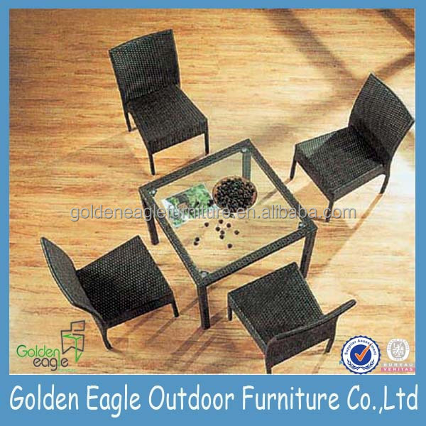 Durable outdoor PE black rattan furniture garden patio