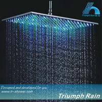 rectangule super big 304SUS LED rain shower
