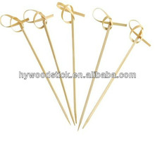 Wholesale Decorative Party Color Flat BBQ Meat Bamboo Sticks