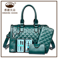 AWW08 Hot Best Sale Western Style Wholesale PU Leather Tote Handbags Sets 4 PCS for Women Fashion
