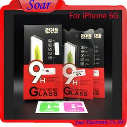 Gold supplier tempered glass screen protector guard cell phone glass cover for iPhone 6G