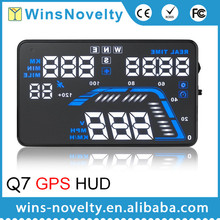 Latest Q7 Car GPS HUD built-in GPS moudle display speed and real time connect apply for all cars and truck and diesel cars
