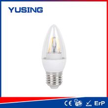 Ningbo i-Flame E27 base C37 glass LED filament bulb led bulb c37 ayers