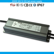 Five years warranty CE SAA TUV passed PWM compatible 200w 24v led dimmer driver