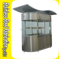 Outdoor Steady Stainless Steel Security Booth Prefabricated Quonset Hut