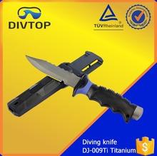 ABS Handle Sharp Serrated Global Seaman Titanium Knife Blade