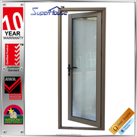 Australian Standards powder coated frosted glass french closet pantry door