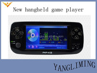 4.3inches screen+480*272 resolution+support 3D game+2 wireless joystick handheld game player