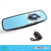 New coming 4.3 inch front/back dual recording cameras rearview mirror car dvrXY-9064
