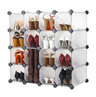 DIY wire shoe shelf commercial shoe rack locking