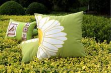 new super soft cotton/linen sunflower applique cushion