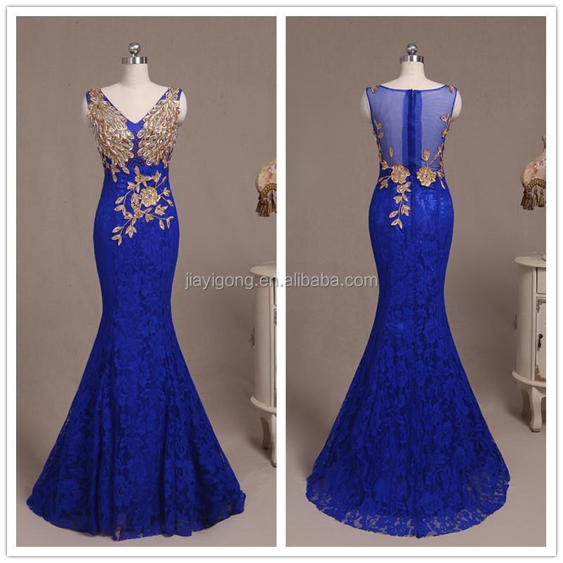 Prom dresses royal blue mermaid formal dresses for Royal blue wedding dresses cheap
