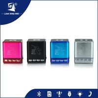 digital mp3 player,Portable with USB FM radio Aluminum alloy mini music box Speaker