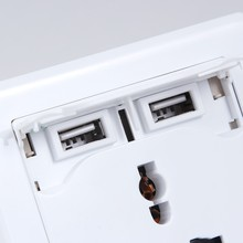 Hot!!! High quality usb wall socket 230v wall mounted universal socket wall socket with usb port