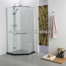 BN-232 Bathroom Shower cabin, diamond shaped,stainless steel rod ,copper plating