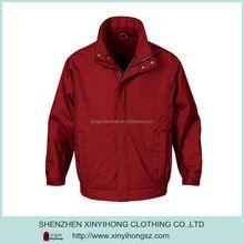 Blank Red Zipper Up 100% Nylon Men's National Sports Store Jackets