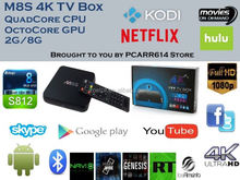 android 4.4 xbmc/KODI amlogic S812 quad core android media stick player google tv box support office suit m8s android tv box